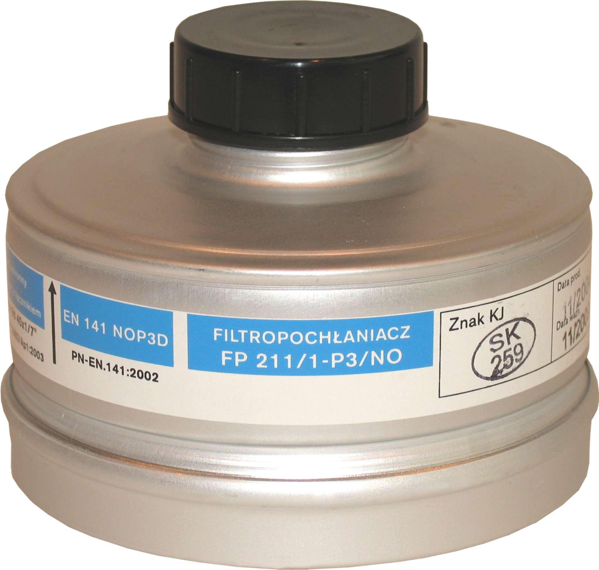 Filtropochłaniacz FP 211/1-P3/NO