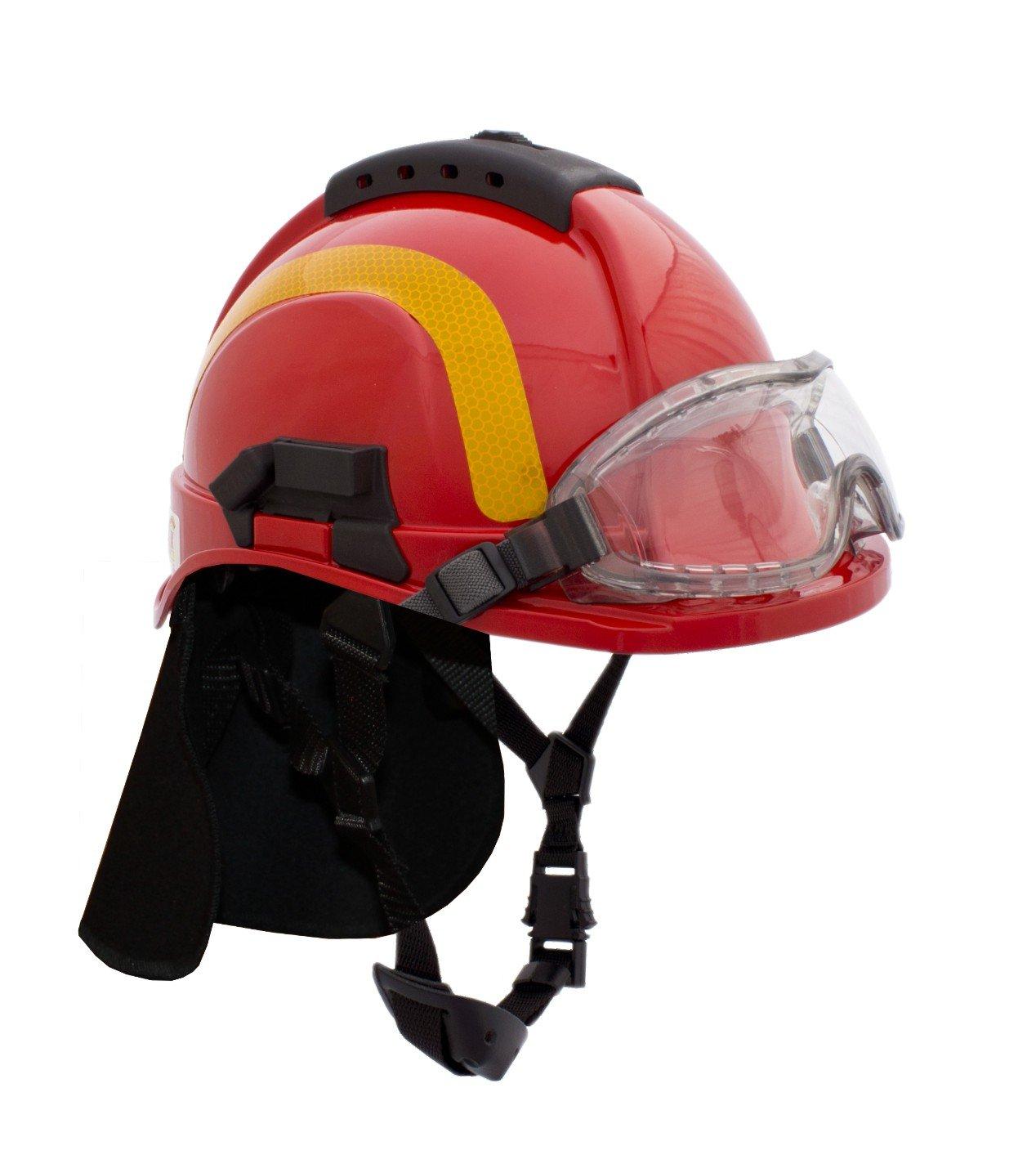 Hełm Tytan typu Hot – hełm dla ratowników z goglami